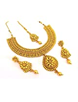 Megh Craft Women's South Indian Antique One Gram Gold Plated Jewelry