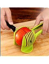 1pc Tomato Slicer Fruits Cutter Stand Utensilios De Cozinha Assistant Lounged Tomato Lemon Shreadders Slicer Random Color