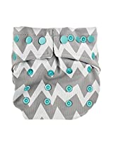 Bumkins Snap In One Cloth Diaper, Gray Chevron By Bumkins