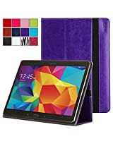 Samsung Galaxy Tab S 10.5 Case - Poetic Samsung Galaxy Tab S 10.5 Case [SlimBook Series] - [SlimFit] [Professional] PU Leather Slim Folio Case for Samsung Galaxy Tab S 10.5 Purple (3 Year Manufacturer Warranty From Poetic)