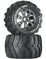Duratrax Hatchet MT 3.8 Mounted Tyre (Set of 2), Chrome