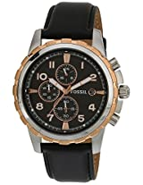 Fossil Dean Chronograph Analog Black Dial Men's Watch - FS4545