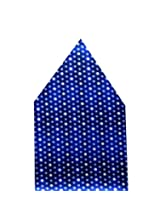 Navaksha Royal Blue Dots Pocket Square