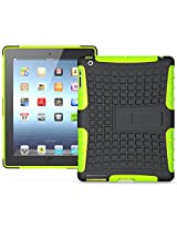Heartly Flip Kick Stand Hard Dual Armor Hybrid Bumper Back Case Cover For Apple iPad Tablet 2 3 4 - Green