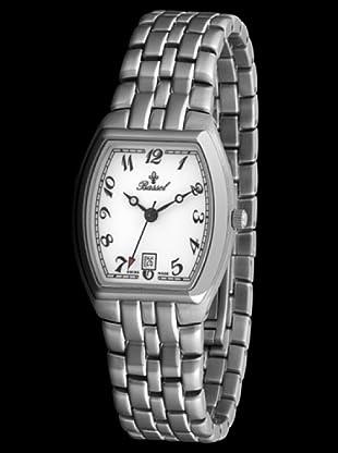 Bassel Reloj 80031 de Acero dial blanco