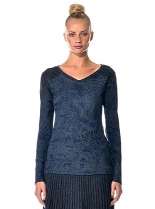Eccentrica Camiseta Cuello V (Azul)