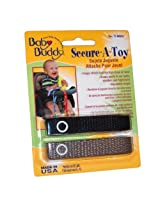 Baby Buddy 2 Count Secure-A-Toy, Black/Tan