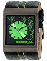 Rockwell Rockwell Time Unisex Mc109 Mercedes Black Leather And Green Watch - Mc109
