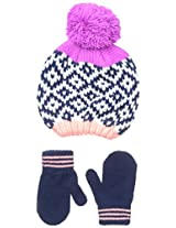 Carters Baby-Girls Intarsia Hat Mitten Set