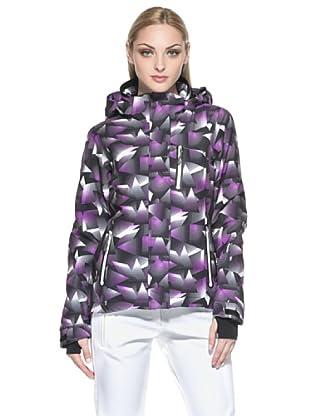 F.lli Campagnolo Damen Skijacke Stretch Print (schwarz/violett)