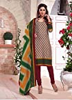 Dazzling Multicolor Printed Cotton Dress Material