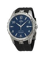 Edox Grand Ocean Blue Dial Black Rubber Men'S Watch - Ex80077-3-Bubn