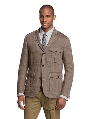 Todd Snyder Men's Herringbone Sport Coat (Brown)