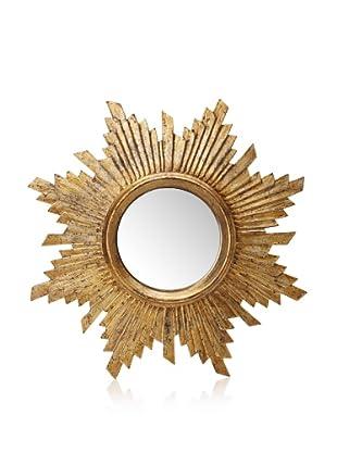 Starburst Antique-Style Wood-Frame Mirror