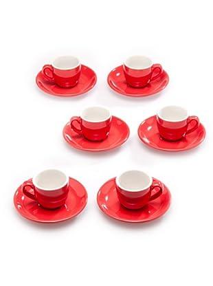 Tognana Set 6 Tazze Caffè (rosso)