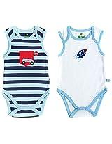 BIO KID Clothing Set for Kids (BB1I-T177-62_0-3 Months, 0-3 Months, White / Blue / Navy)