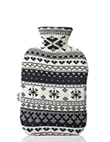 PLUCHI NORDIC Blue 100 % cotton & Knitted Hot water Bottle cover