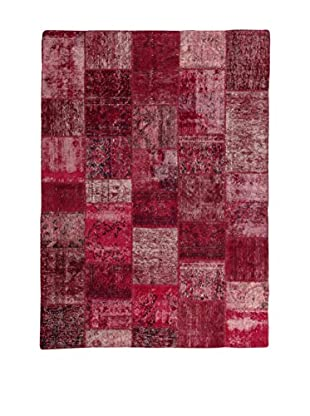 Design Community By Loomier Teppich Revive Vintage Patch weinrot 170 x 237 cm