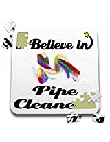 Dooni Designs I Believe In Designs I Believe In Pipe Cleaners 10x10 Inch Puzzle (Pzl 105475 2)