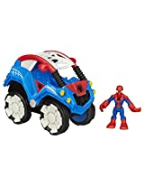 Playskool Heroes Marvel Super Hero Adventures Flip-Out Stunt Buggy Vehicle with Spider-Man Action Figure
