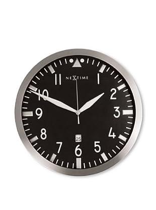 NeXtime Pilot Wall Clock (Silver/Black)