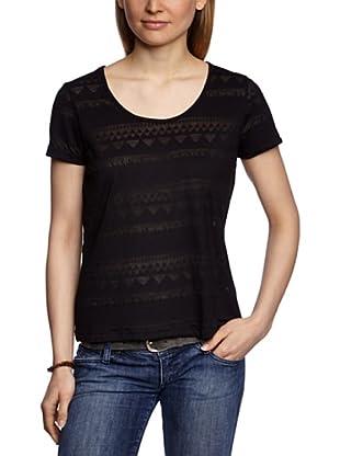 Pieces Camiseta Abbie Burn Out (Negro)