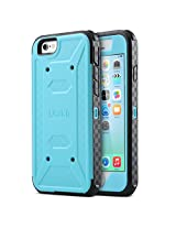 iPhone 6S Case, ULAK® [KNOX ARMOR] Heavy Duty Full-Body Rugged Impact Resistant Bumper Shockproof Hybrid Protective Case with Built-in Screen Protector for Apple iPhone 6/6S (Blue)