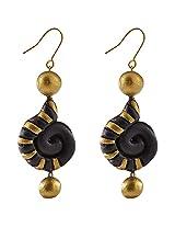Avarna Terracotta Earrings Era0008 For Women (Black )