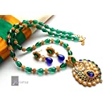 CRYSTAL GREEN TRADITIONAL NECKLACE SET