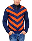 Yepme Men's Cotton Sweater (YPMSWEATER0016_Blue_Large)