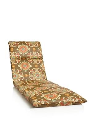 Waverly Sun-n-Shade Garden Crest Chaise Lounge Cushion (Chocolate)