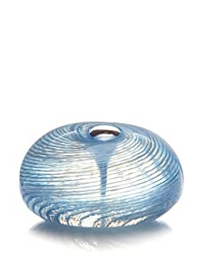 Asheville Glass Center Twist Paperweight, Light Blue/White