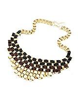 Crunchy Fashion Ribbon Embellished Necklace for Girls