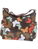 OiOi Baby Butterfly Hobo Diaper Bag Chocolate
