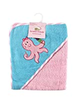 Luvable Friends Underwater Animals Hooded Woven Terry Baby Towel Pink