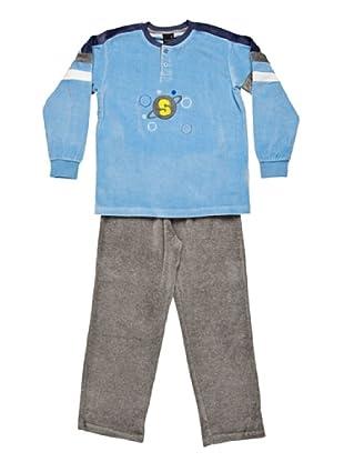 Basket Pijama Velour Tapeta (Azul)