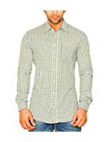 Moksh Men's Checkered Casual Shirt ACE08102013-A4 (Large)