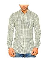 Moksh Men's Checkered Casual Shirt ACE08102013-A4 (Medium)