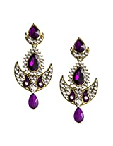 Beingwomen Gold Plated Stone Studded Fashion Alloy Drop Earring