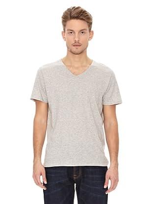 Nudie Jeans Camiseta Cuello Pico (Gris)