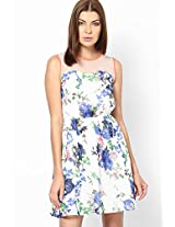 Tropical Heaven Floral Print Skater Dress