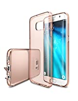 Galaxy S7 Edge Case, Ringke [FUSION AIR] Weightless as Air, Extreme Lightweight Ultra-Thin Transparent Soft Flexible TPU Scratch Resistant Protective Case for Samsung Galaxy S7 Edge -Rose Gold Crystal