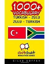 1000+ Turkish - Zulu Zulu - Turkish Vocabulary