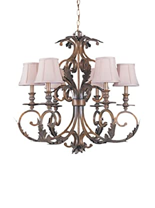 Gold Coast Lighting Handpainted Wrought Iron Chandelier