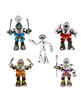 Teenage Mutant Ninja Turtles Metal Mutant 5 Pack With Fugi Toid