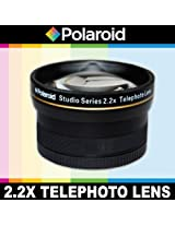 Polaroid Studio Series 2.2X High Definition Telephoto Lens, Includes Lens Pouch and Cap Covers For The Nikon 1 J1, J2, J3, V1, V2, V3, S1, AW1 Digital SLR Cameras Which Have Any Of These (10-100mm) Nikon 1 Lenses