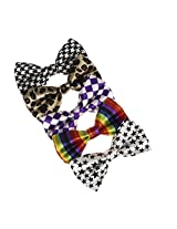DBF0157 Multicoloured Patterned Pre-Tide Bowties Stylies Microfiber 5 Pack Bow ties By Dan Smith