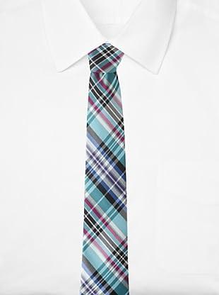 Ben Sherman Men's Morton Plaid Tie (Aqua)
