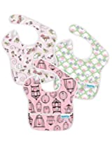 Bumkins 3 Pack Waterproof SuperBib, Girl Set