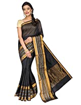 Korni Cotton Silk Banarasi Saree ISL-1051- Black KR0467